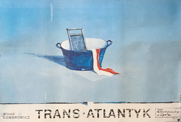 1988 Original Polish Poster, Trans Atlantyk, Witold Gombrowicz - Polnar