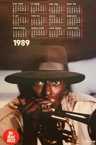 1989 Original Polish poster calendar, Jazz Forum We Want Miles