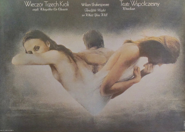 1981 Original Polish Theatre Poster, Twelfth Night or What you Will (Wieczor Trzech Kroli)