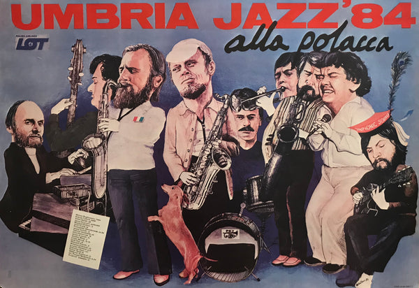 1984 Original Polish Jazz poster, Umbria Jazz '84 alla polacca