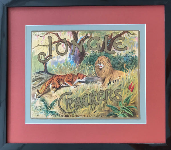 1900s Vintage British Art Nouveau Animal Crackers Poster (Framed)