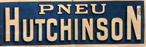1890s French Vintage Poster - Pneu Hutchinson (Banner)