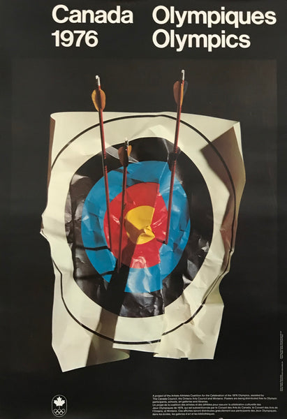 1976 Canada Olympic Poster, Artists-Athletes Coalition - Pierre Ayot