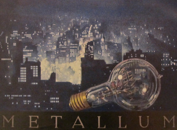 1923 Austrian Art Deco Poster, Metallum #1 (Framed)