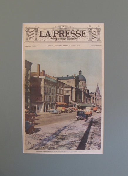 1938 La Presse Newspaper Front Page, Marche Bonsecours (19 February)