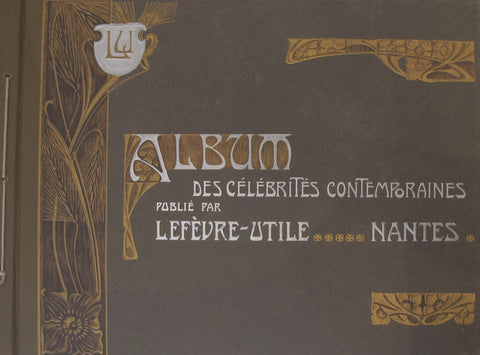 1905 Album of French Art Nouveau Biscuit LU Collectible Postcards