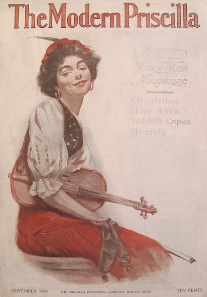 1911 Original American Magazine Cover The Modern Priscilla