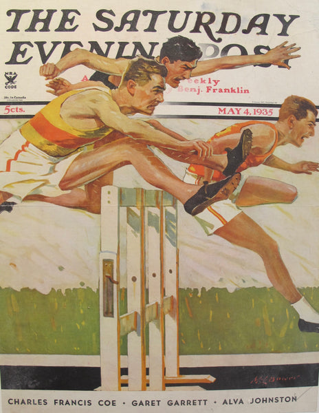 1935 American Magazine Cover, Saturday Evening Post (Runners)
