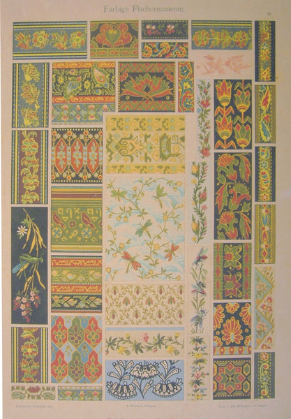 1900 Original German Art Nouveau Poster, Decorator Print, #8