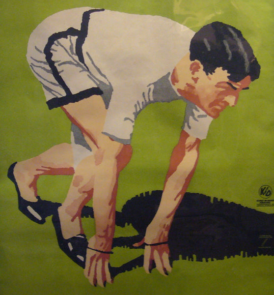 1925 Original German Art Deco Poster, Athlete - Ludwig Hohlwein