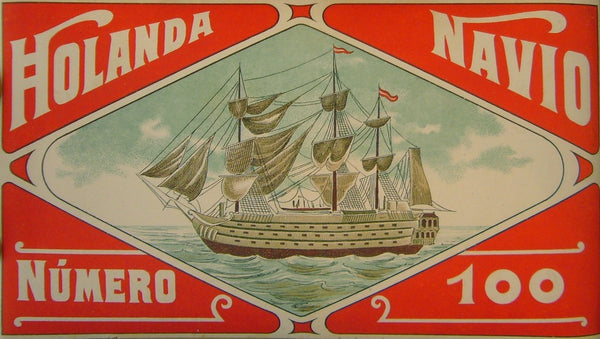 1920s Original Barcelonian Label, Holanda Navio (Matted)