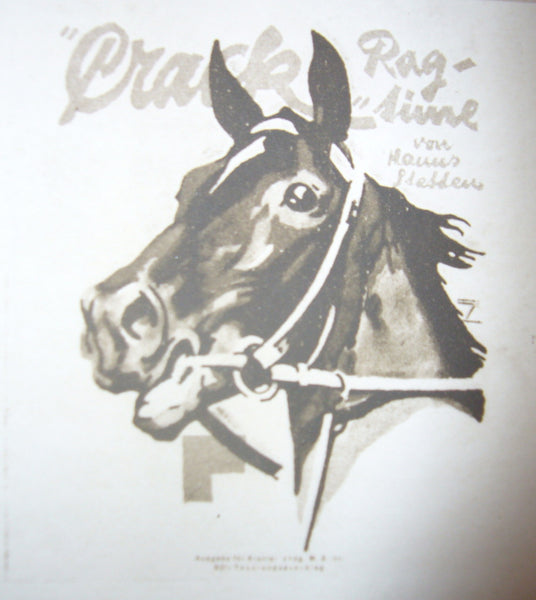 "1926 Original German Art Deco Poster, Horse ""Crack Rag-Time"" - Hohlwein"