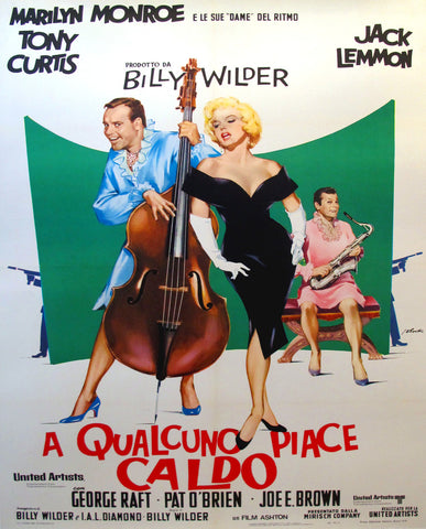 1964 Original Italian Movie Poster, Some Like it Hot