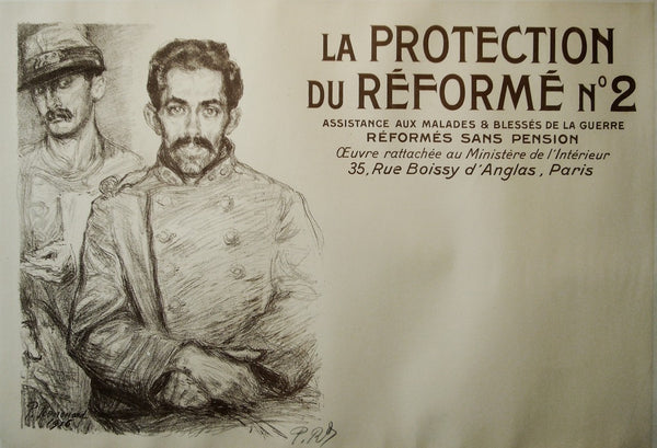 1916 Original French WWI Poster, La Protection Du Reforme