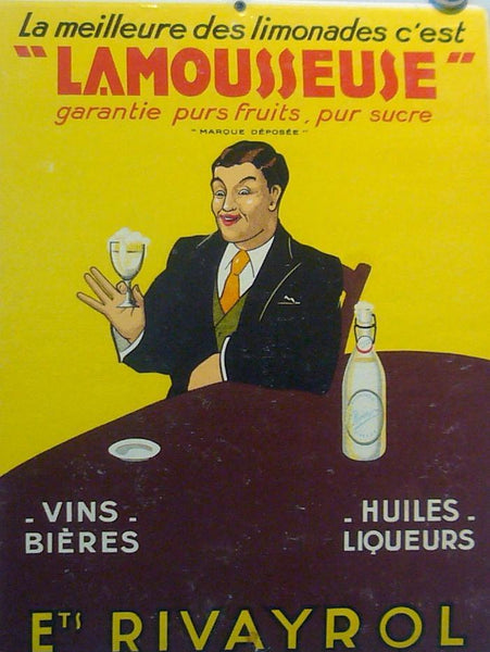 1930s French Lamousseuse Advertisement Carton