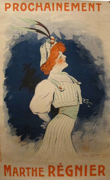 1909 Original Poster Of Marthe Regnier - French Actress