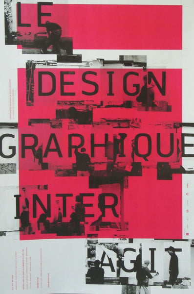 2004 Quebec Contemporary Poster, Centre De Design De L'UQAM, Interagit Exhibition