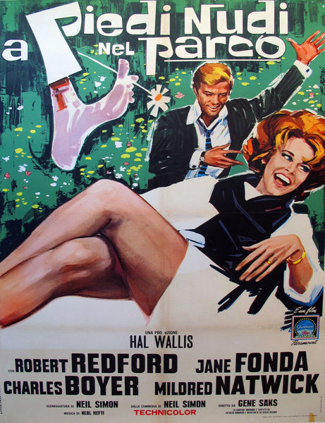 1964 Original Italian Movie Poster, Barefoot in the Park