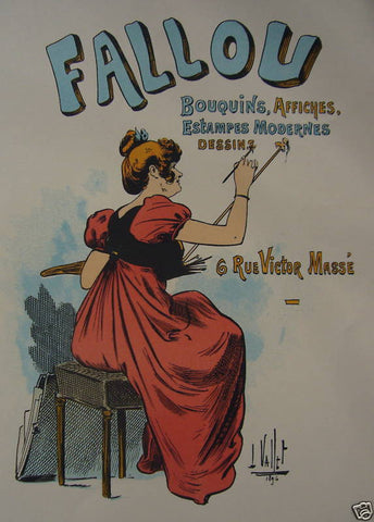 1897 Original French Art Nouveau Poster, Les Programmes Illustres, Fallou - Vallet