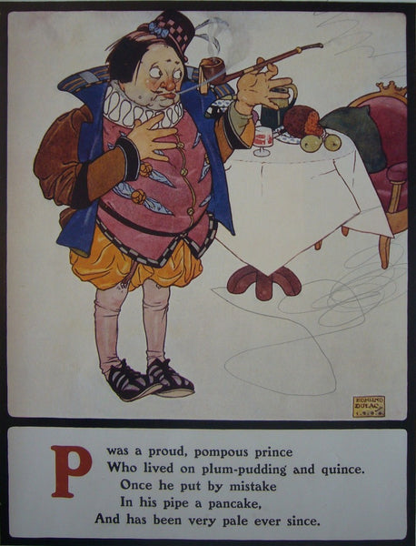 1908 British Children's Illustration, Proud Pompous Prince - Dulac