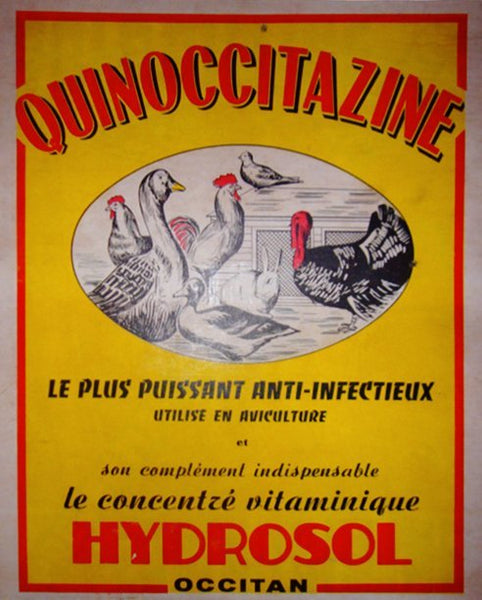 1930 - 1940s Original French Carton, Hydrosol Quinoccitazine