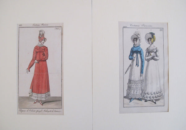 1820's Costumes Parisien, Parisian Ladies Fashion (set of 2)