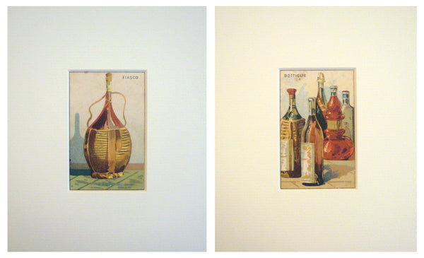 1910s Italian Art Nouveau Trade Cards, Bottles