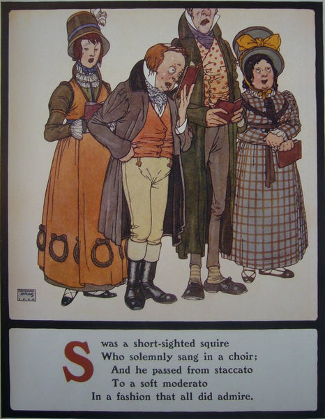 1908 British Children's Illustration, Short Sighted Squire - Dulac