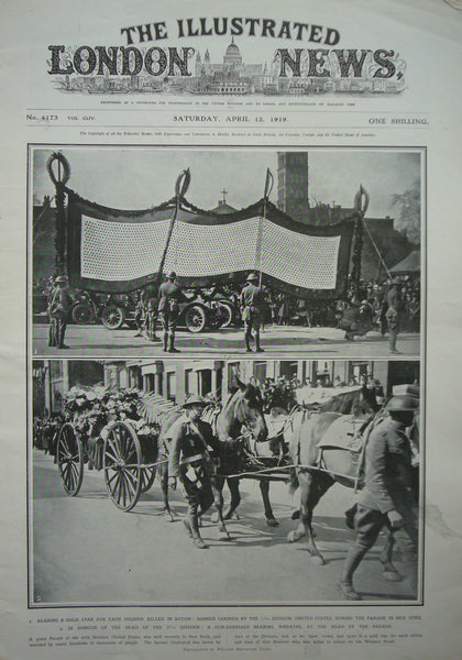 1919 Original Full Copy The Illustrated London News April 12