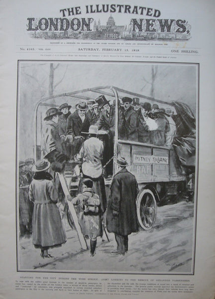 1919 Original Full Copy The Illustrated London News, February 15