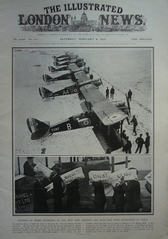 1919 Original Full Copy The Illustrated London News, February 8