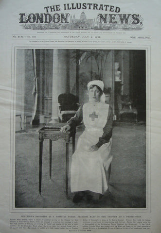 1918 Original Full Copy The Illustrated London News, July 6