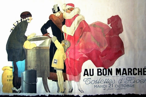 1930s Original French Art Deco Poster, Au Bon Marché