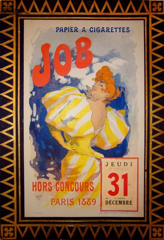 1889 Original French Art Nouveau Job Calendar - Cheret
