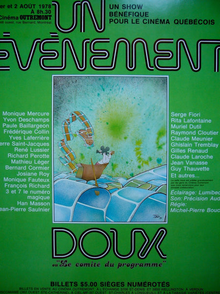 1970s Contemporary Quebec Music Poster, Un Evenement Doux