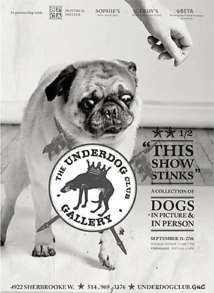 2014 Contemporary Montreal Poster, Underdog: Stinks Large - Breslaw