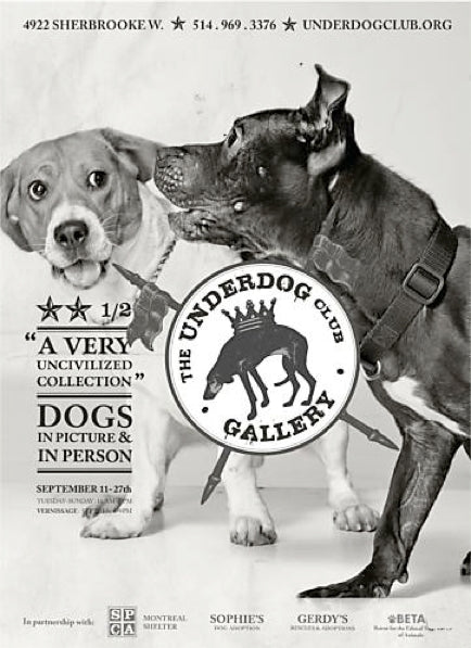 2014 Contemporary Montreal Poster, Underdog: Uncivilized - Breslaw