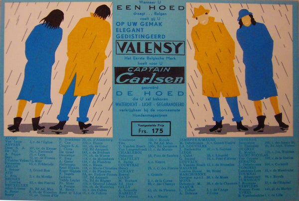 1930s Original Dutch Advertisement, Captain Carlsen