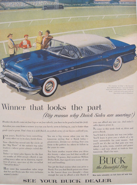 1960s Matted American Car Advertisement, Buick Special Riviera