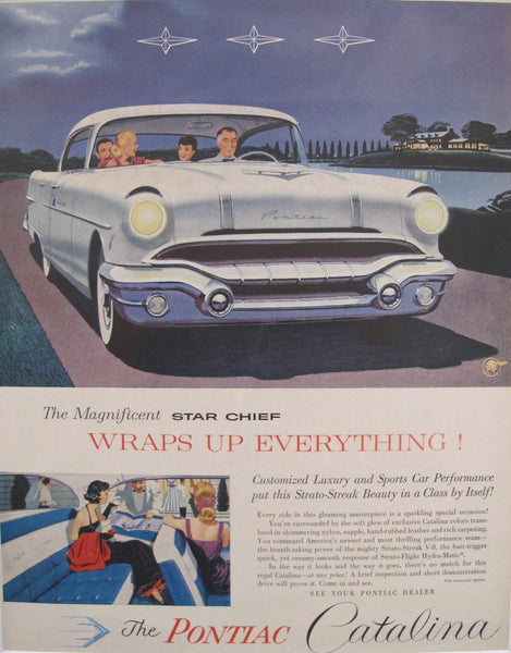 1960s Matted American Car Advertisement, Pontiac Catalina