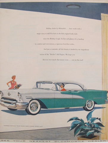 1960s Matted American Car Advertisement, Holiday Sedan by Oldsmobile
