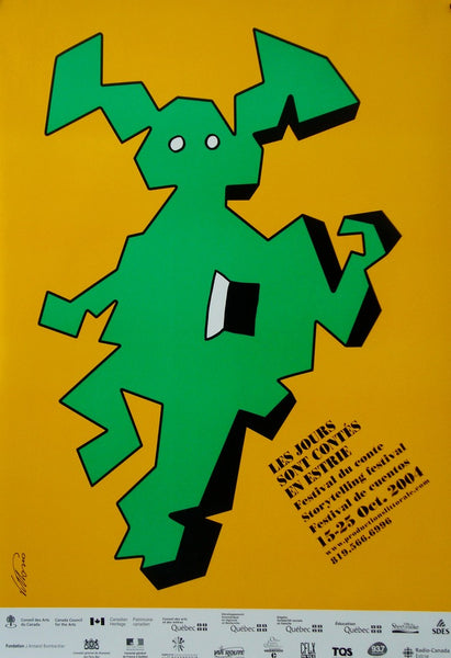 2004 Contemporary Quebec Poster, Quebec Storytelling Festival II