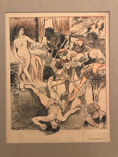 1894 Original French Art Nouveau Poster, Gil Blas, Chronique Napolitaine