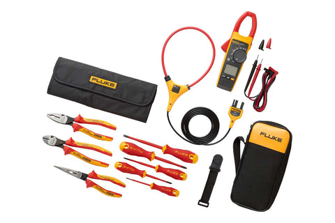 Fluke 376 FC True-RMS Clamp Meter + Insulated Hand Tools Starter Kit IB376K
