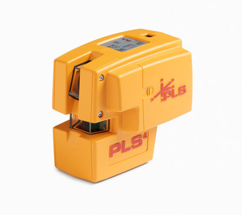 PLS 4 Red Cross Line Laser Level with Plumb Bob and Level PLS-60574