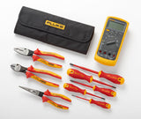 Fluke 87V Industrial Multimeter + Insulated Hand Tools Starter Kit IB875K