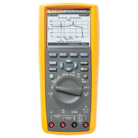 Fluke 289 True-RMS Data Logging Multimeter w/ FLUKE VIEWFORMS Software