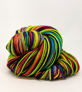 Where Trouble Melts Like Lemon Drops - 40 Stripe Self Striping, DK, Ready To Ship