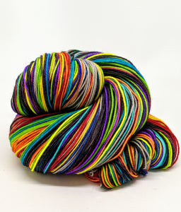 Where Trouble Melts Like Lemon Drops - 40 Stripe Self Striping, Fingering/Sock, Dyed To Order