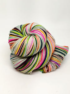 Delightfully Minty - 40 Stripe Self Striping, Fingering/Sock, Ready To Ship